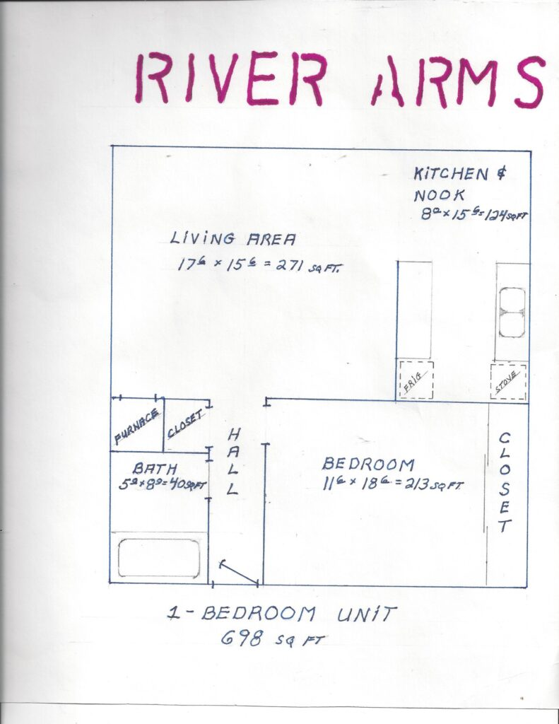 One Bedroom River Arms